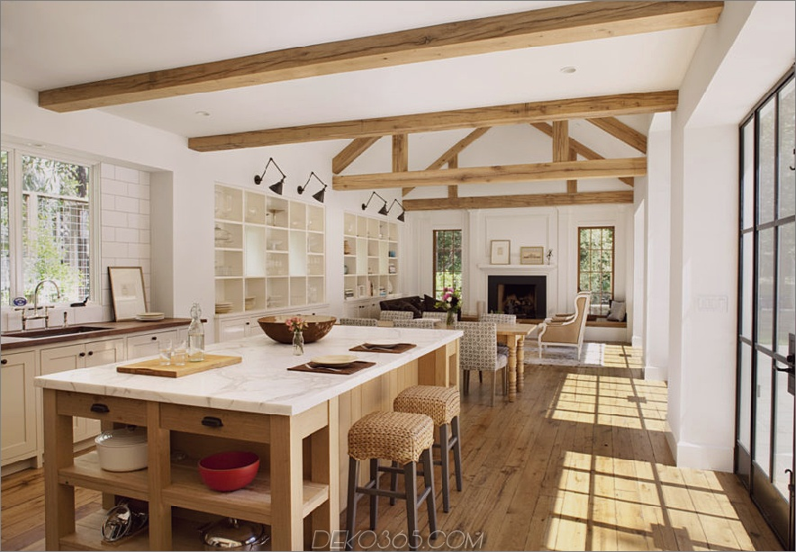 Open Space Bauernhaus Küche Design