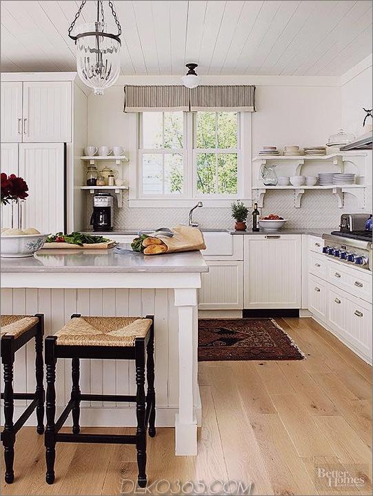Weiße Decke Küchendesign