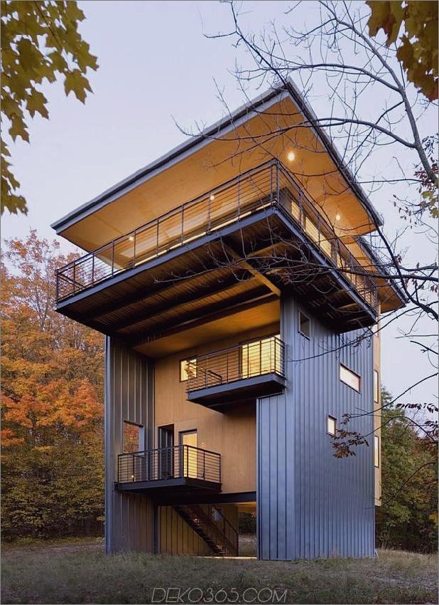 großes modernes Haus am See mit herrlichem Blick 1 Vorderwinkel Daumen autox866 45677 4-stöckiges, hohes Haus erreicht den See über dem Wald