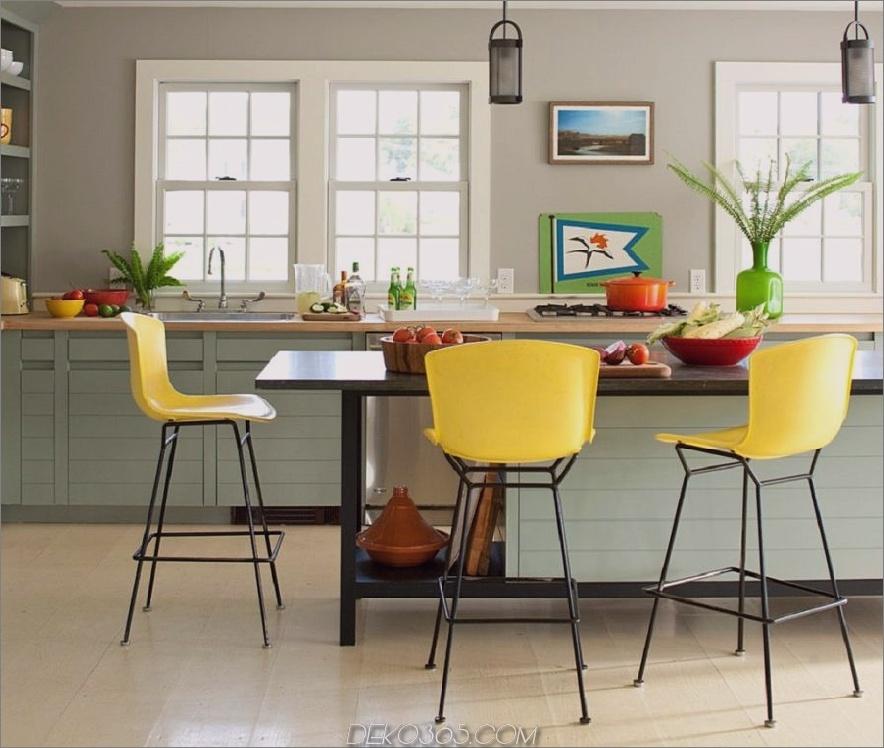 Akzentfarbe für Küchen-Barhocker 900x761 40 Akzentfarbkombinationen, damit sich Ihre Wohnkultur-Räder drehen