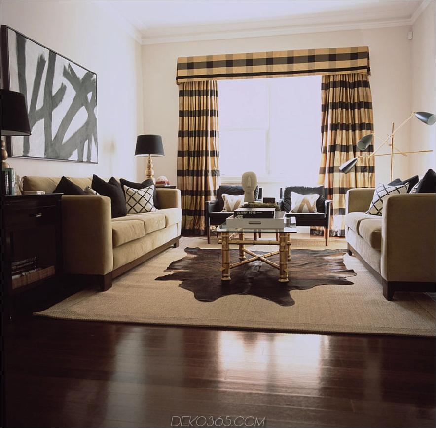camel-black-wohnzimmer-plaid-fenster-ankleiden-sisal-teppich-schwarz-beistelltisch-und-kissen-bambus-glas-kaffee-tisch-verstecken-teppich-holzkohle-lounge-stühle-vintage-lampen- Dielen-Diane-Bergeron