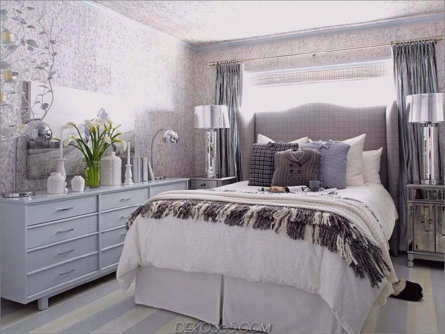 weißes graues blaues silbernes Zimmer