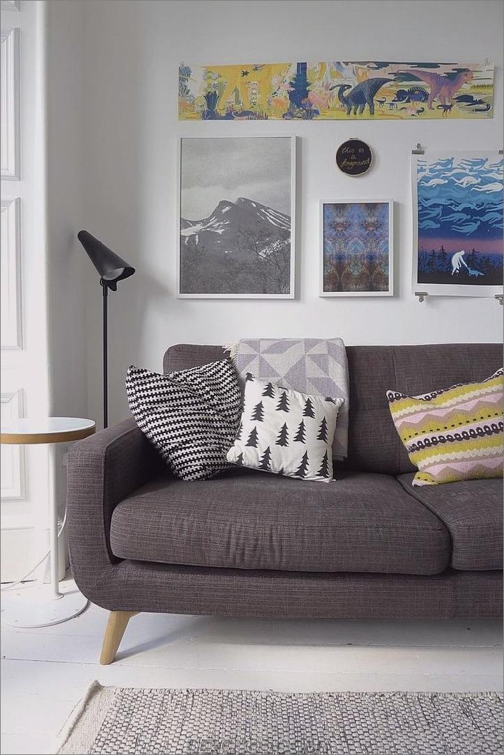 Holzkohle Chartreuse und weißer Raum