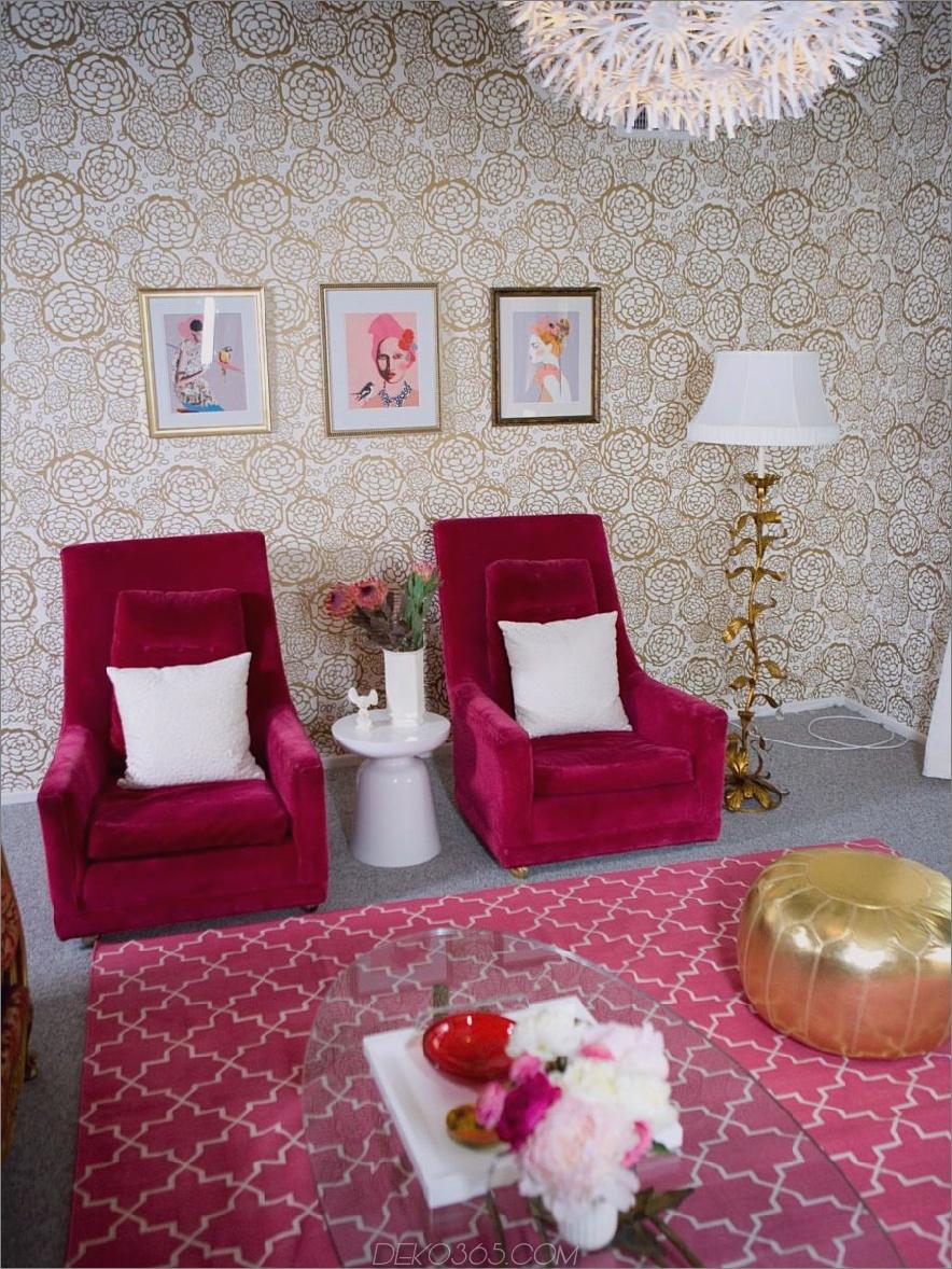 Hot Pink und Gold Room