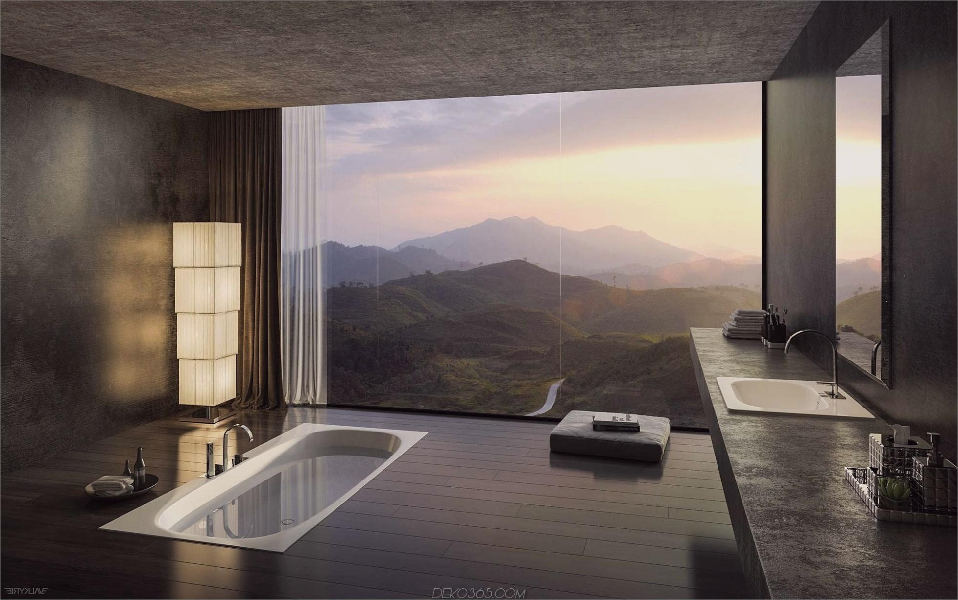 11 atemberaubende Luxus-Badezimmer mit unglaublicher Blick - blog