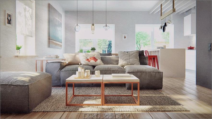 Duplex Penthouse im skandinavischen Stil