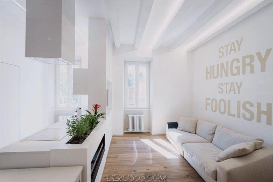 Ethereal House von Brian Factory 900x600 Das All White Ethereal House ist ein platzsparendes Apartment in Rom