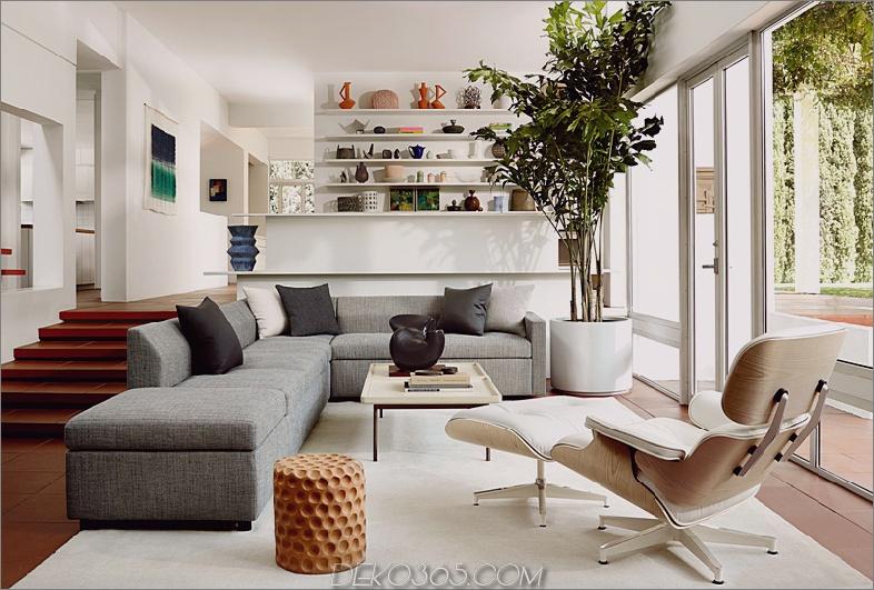 Eames Stuhl und Ottomane in Weiß