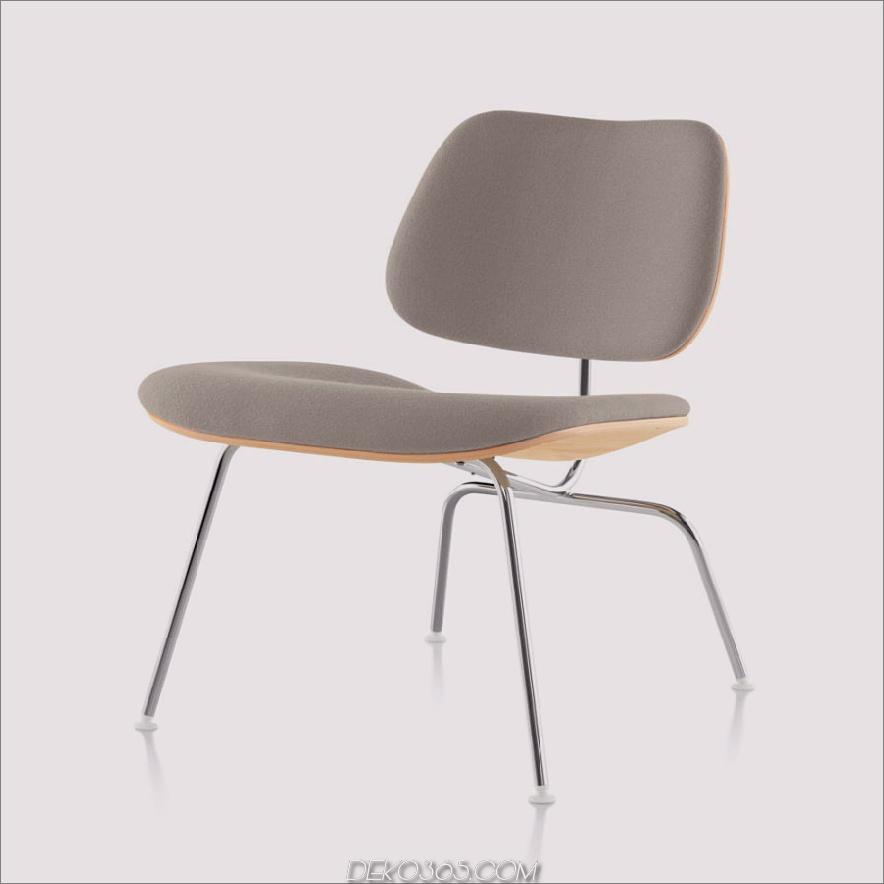 Eames® Gepolsterter Formsessel aus Sperrholz (LCM)