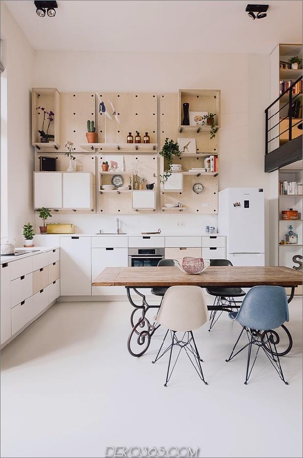 altes schulhaus in amsterdam offene wohnküche thumb autox951 58362 Altes Schulhaus in 10 Loft-Apartments umgewandelt