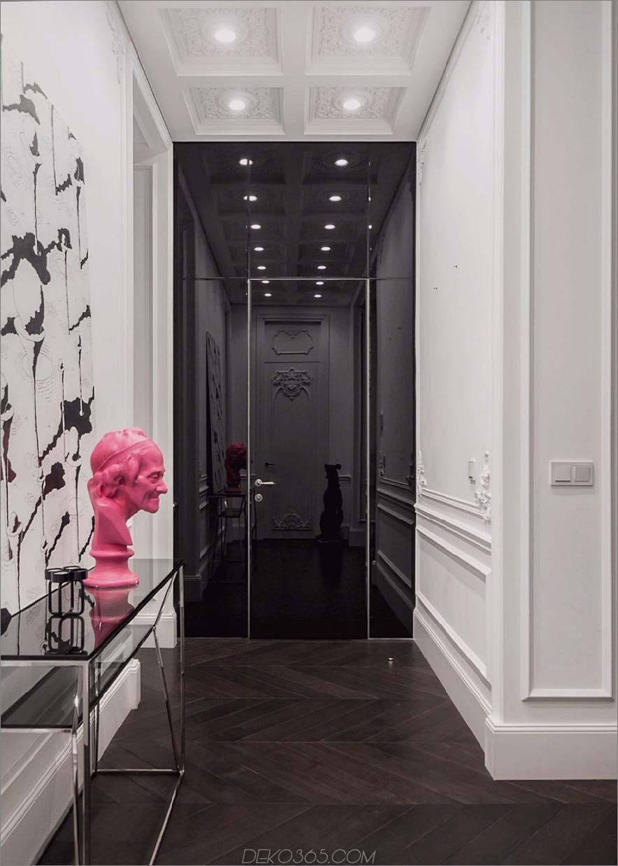 Glänzend schwarze Tür 900x1260 19. Jahrhundert Apartment wird in Kiew modernisiert