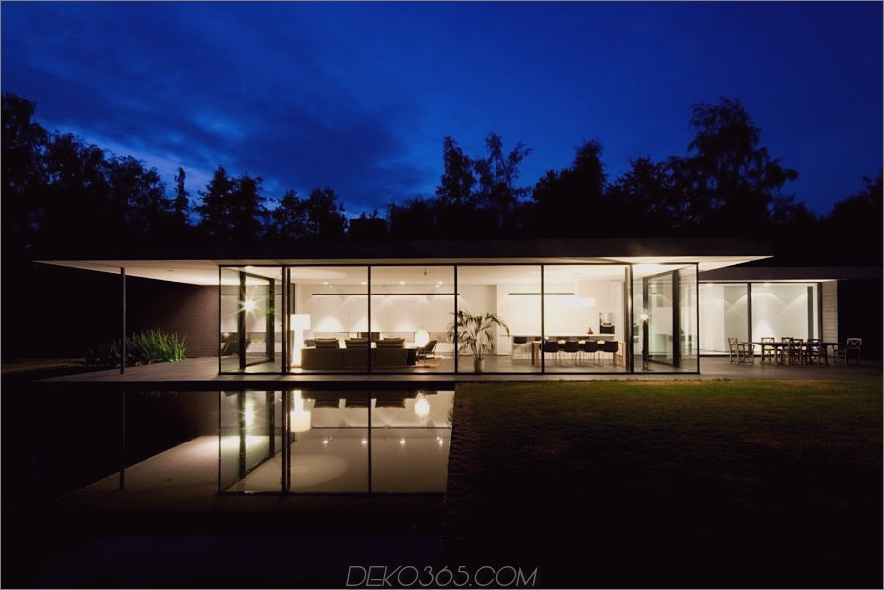 Ultra modernes Glashaus