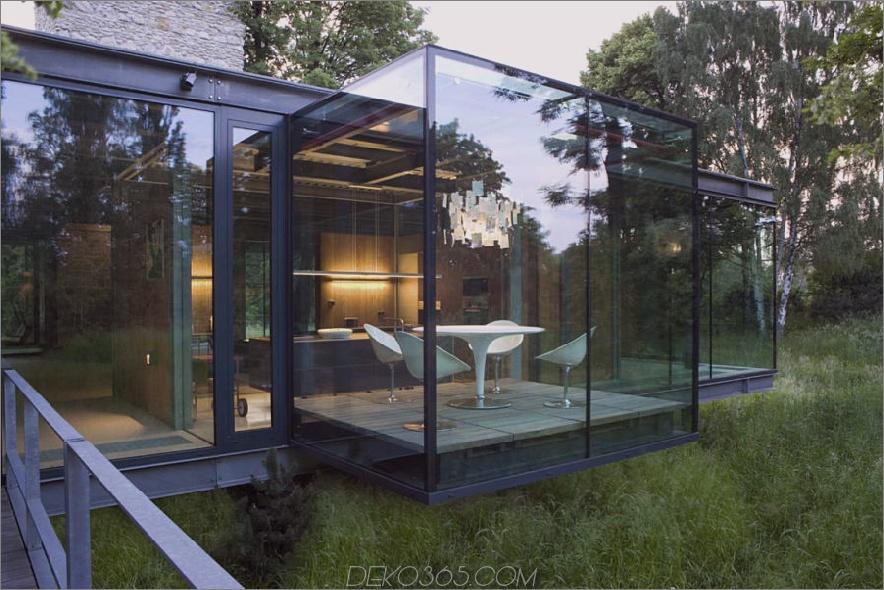Zeitgenössisches Waldglashaus