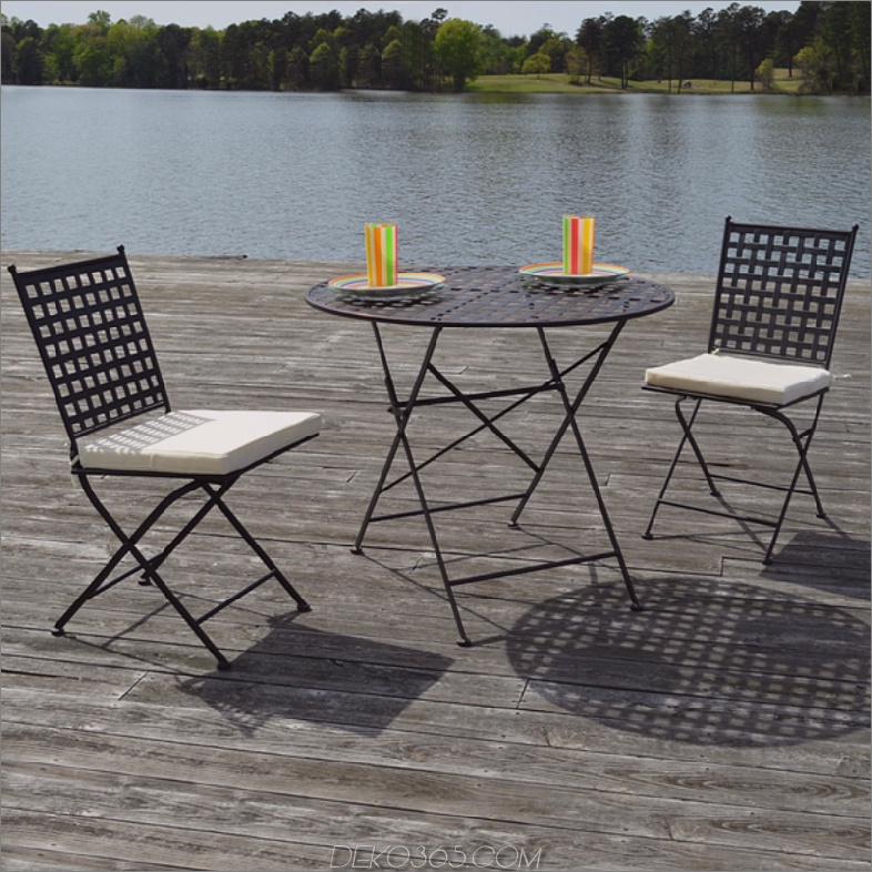 Marseille Black Steel - Dreiteiliges Bistro-Set