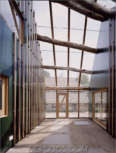 wolzak house 6 Bauernhaus-Renovierungsideen und -er - Originalziegel mit moderner Holzverlängerung