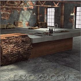 Inspirierte Baumstammküche von Werkhaus