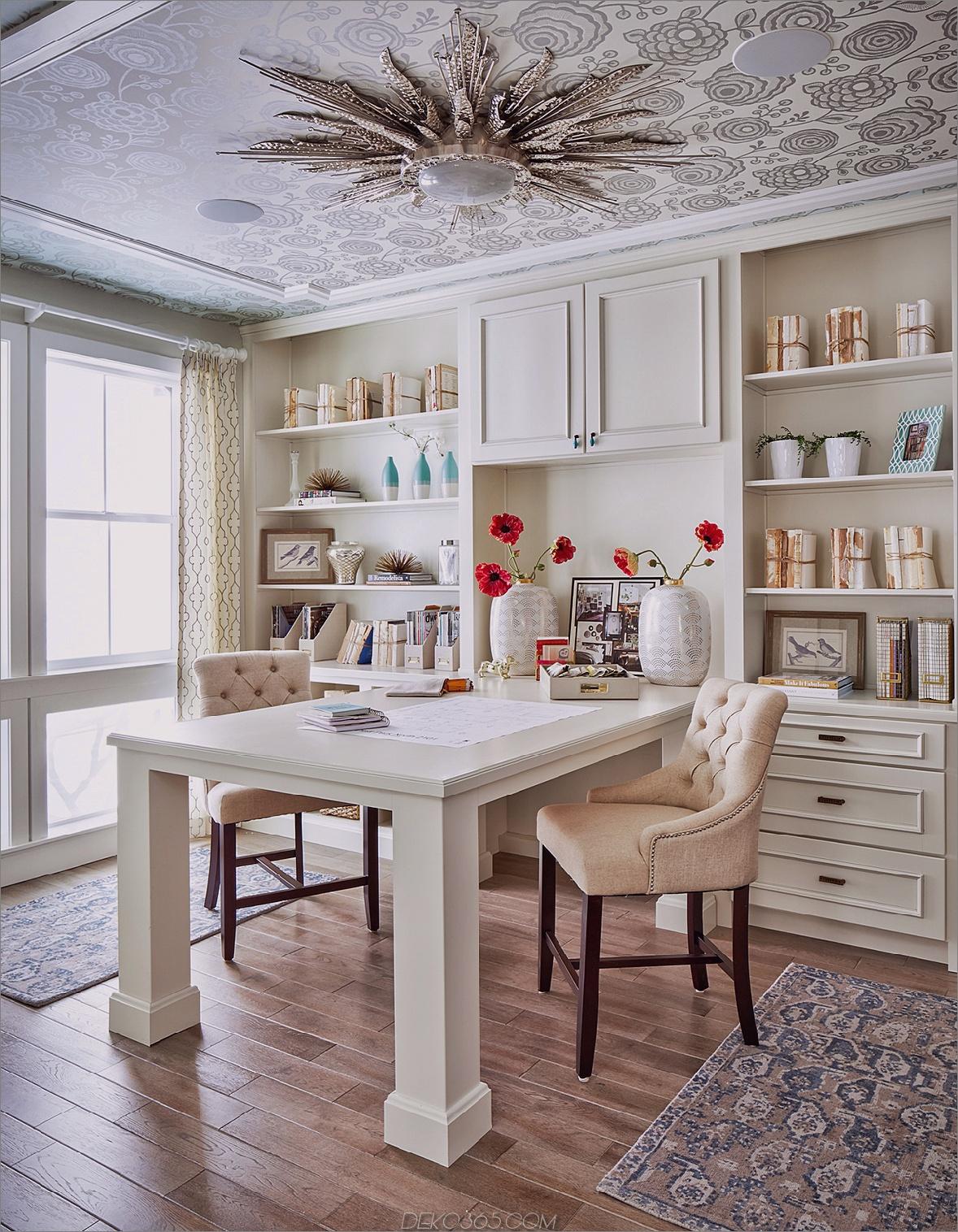 Benutzerdefinierter Home-Office-Tisch Beeindruckende Home Offices, die Sie produktiver machen möchten