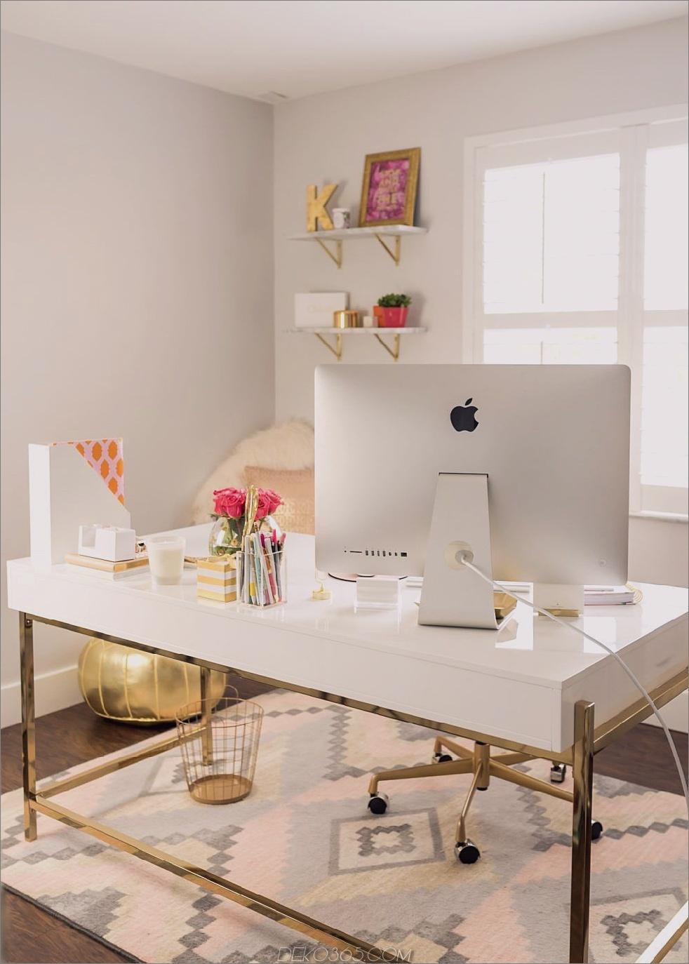 Anstelle eines kalten frivolen Büros erstellen Sie ein gemütliches Büro, indem Sie einen Teppich hinzufügen