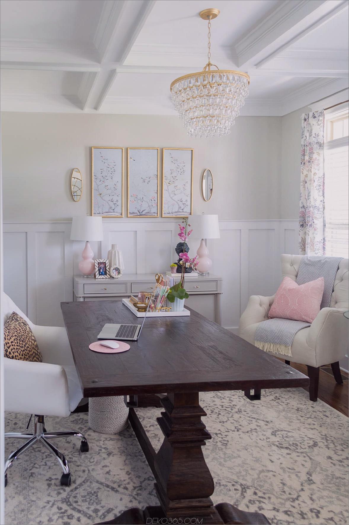 Paaren Sie Lavendel-Bits im gesamten Raum, wenn Sie nicht Ihren gesamten Raum mit einem Lavendel-Farbton bemalen möchten.