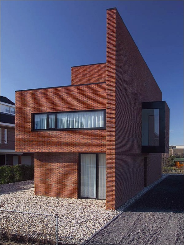 Ziegelmauerhaus im minimalistischen Stil 1 Das Ziegelmauerhaus bietet minimalistischen Stil mit maximaler Ausstrahlung