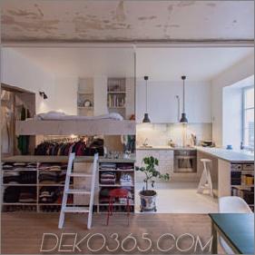 Clever renovierte kleine Wohnung hält unfertige Putzwände