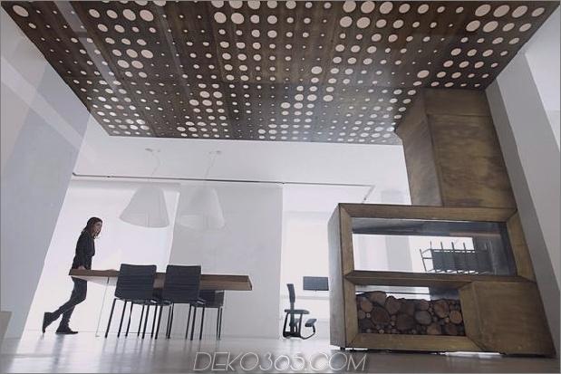 Brünierter Messingkaminfokus des minimalistischen Hauses_5c58f9027fddc.jpg