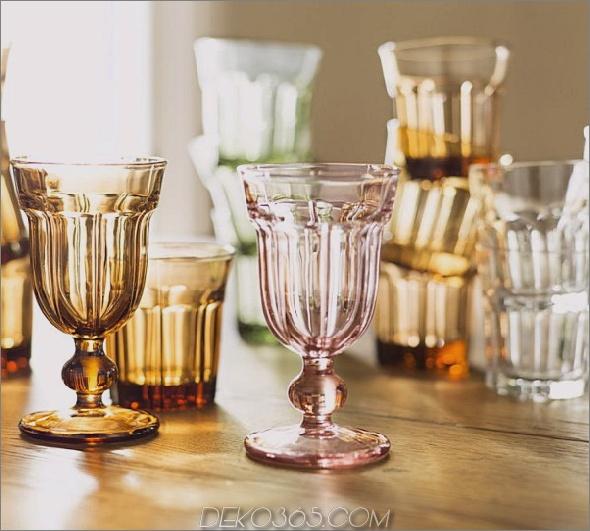 bunte Caféglaswaren von Pottery Barn 2 Bunte Caféglaswaren von Pottery Barn: Becher und Becher im Retro-Stil