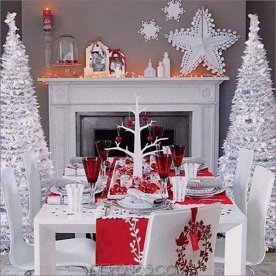 Bunte Weihnachtsdekor-Ideen 2 Bunte Weihnachtsdekor-Ideen: Weiß, Rot, Lila und Türkis