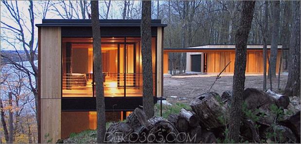 Glas-Seehaus, inspiriert von und gebaut von Bäumen 2 thumb 630x300 11462 Buntes Seehaus im Hang gebaut