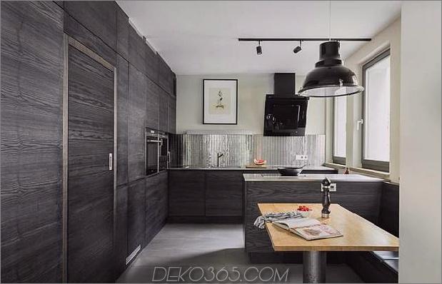 schickes texturiertes Interieur mit einzigartigen Materialien von karhard architektur 1 dunkle holzküche thumb 630xauto 33274 Chic Interiors mit einzigartigen Materialien von Karhard Architektur