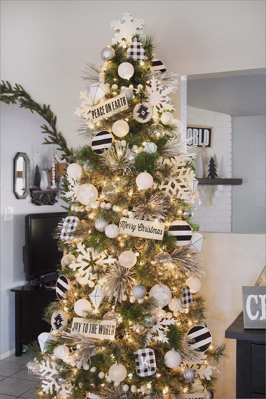 Schwarzweiss-Weihnachtsbaum 2 Weihnachtsbaum-Dekor Sie benötigen jetzt!