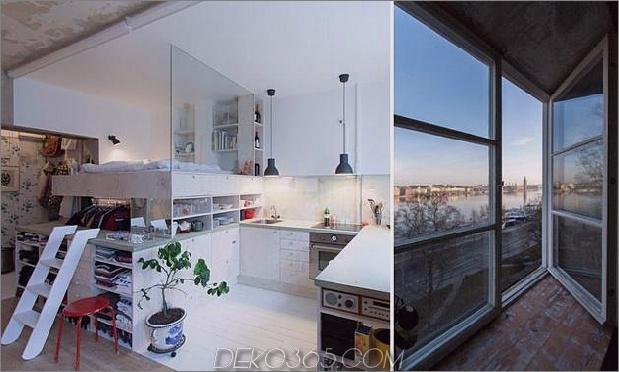 Clever gestaltete kleine Wohnung Jahrzehnte Patina Renovierung 1 view thumb 630xauto 43223 Clever renovierte kleine Wohnung hält unfertige Gipswände