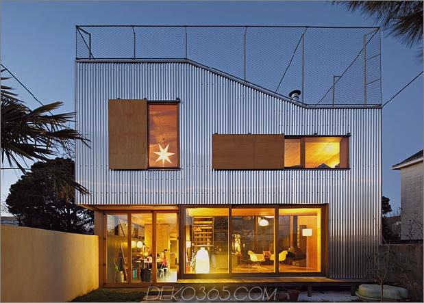 1 gewellte Aluminiumfassade Hauserweiterung der 1930er Jahre 630xauto 66346 Cooles französisches Haus mit gewölbter Aluminiumfassade und Dachterrasse