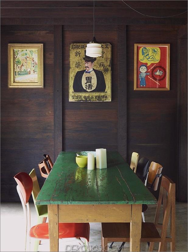farbige Glaswände funkeln vom Cottage zusätzlich 2 Speisedaumen 630x840 29641 Cottage mit farbigen Glaswänden und vorhandenen Bäumen