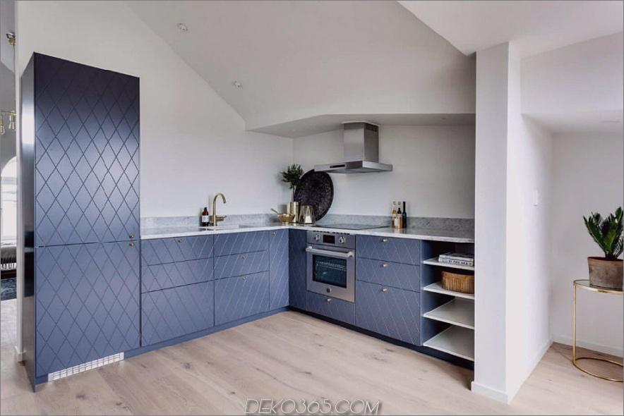 L-förmiges Küchenlayout bietet viel Stauraum