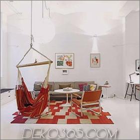 Helle Farbakzente - Loft-Apartment in Stockholm