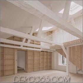 Einfaches Apartment in Stockholm präsentiert den ursprünglichen Rahmen des Gebäudes
