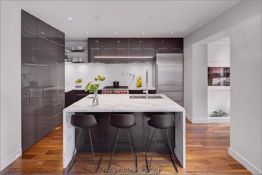 Zeitgenössische glänzende Küche