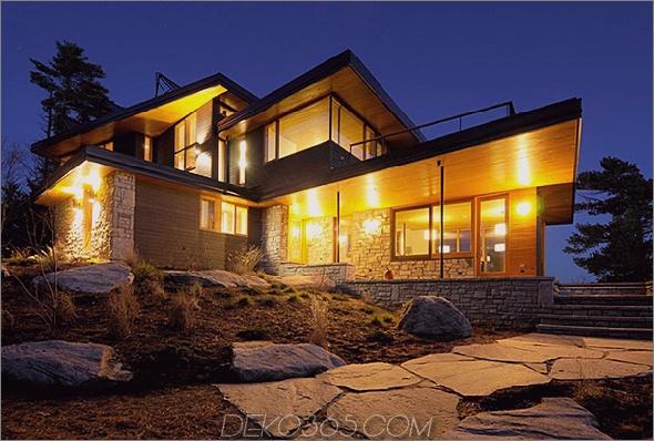 Ontario Öko-Haus Altius-Architektur Muskoka 1 Öko-Haus in Ontario arbeitet außerhalb des Stromnetzes