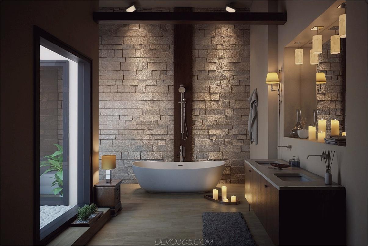 Symmetrie im Badezimmer Design Essentials für ein verträumtes Badezimmer