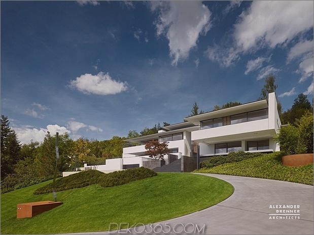 1 modernes Haus mit Parkblick 630xauto 62592 Deutsches zeitgenössisches Haus auf dem Hügel