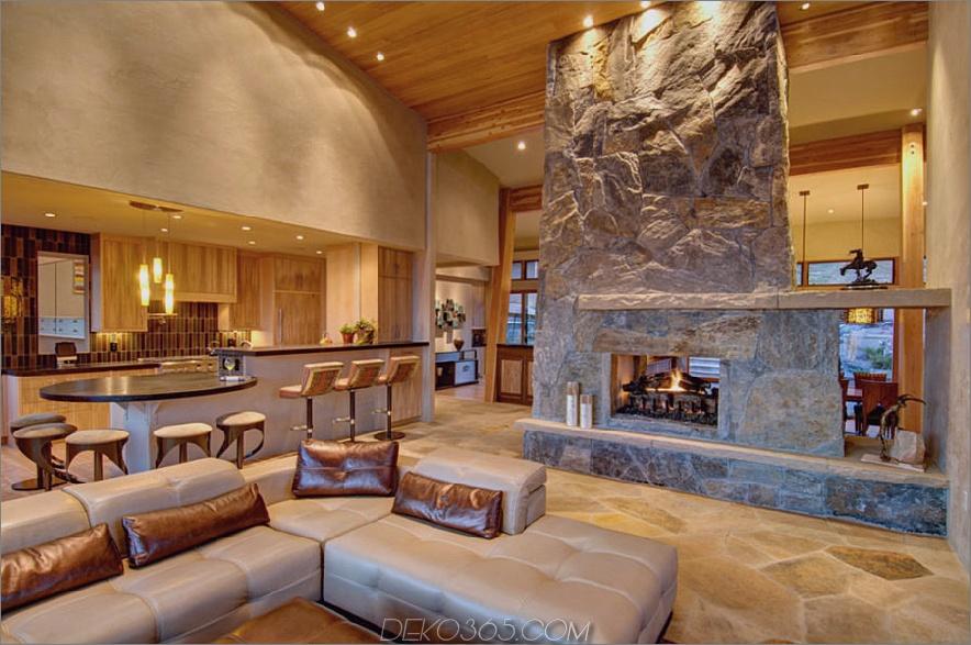 doppelseitiger Steinkamin 900x597 Diese 15 doppelseitigen Kamine wünschen die kältesten Nächte des Jahres
