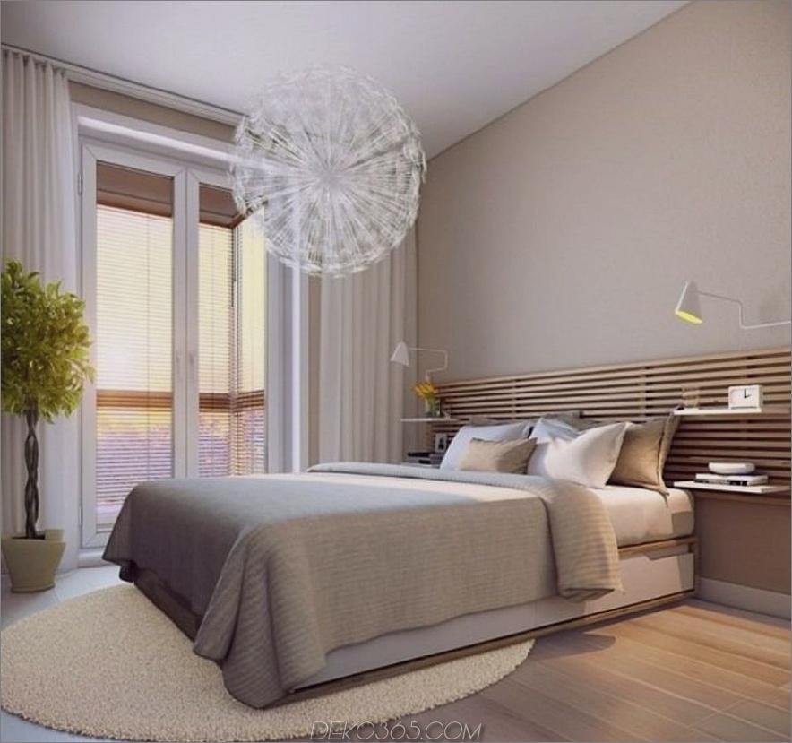 Tan Zen Modern Bedroom 900x844 Diese 15 modernen Schlafzimmer werden Ihre Liebe zum zeitgenössischen Stil neu zelebrieren