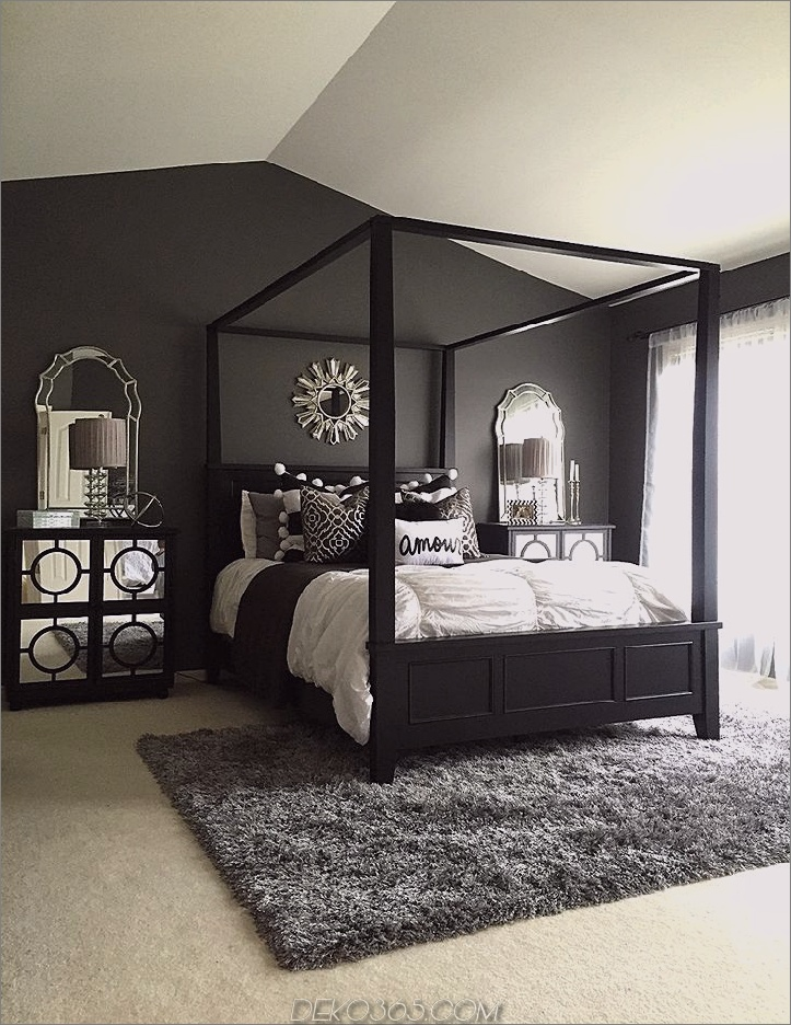 schwarzes Schlafzimmer für Teenager Diese 15 schwarzen Schlafzimmer werden genau die richtige Menge an Mysterium zu Ihrem Haus hinzufügen