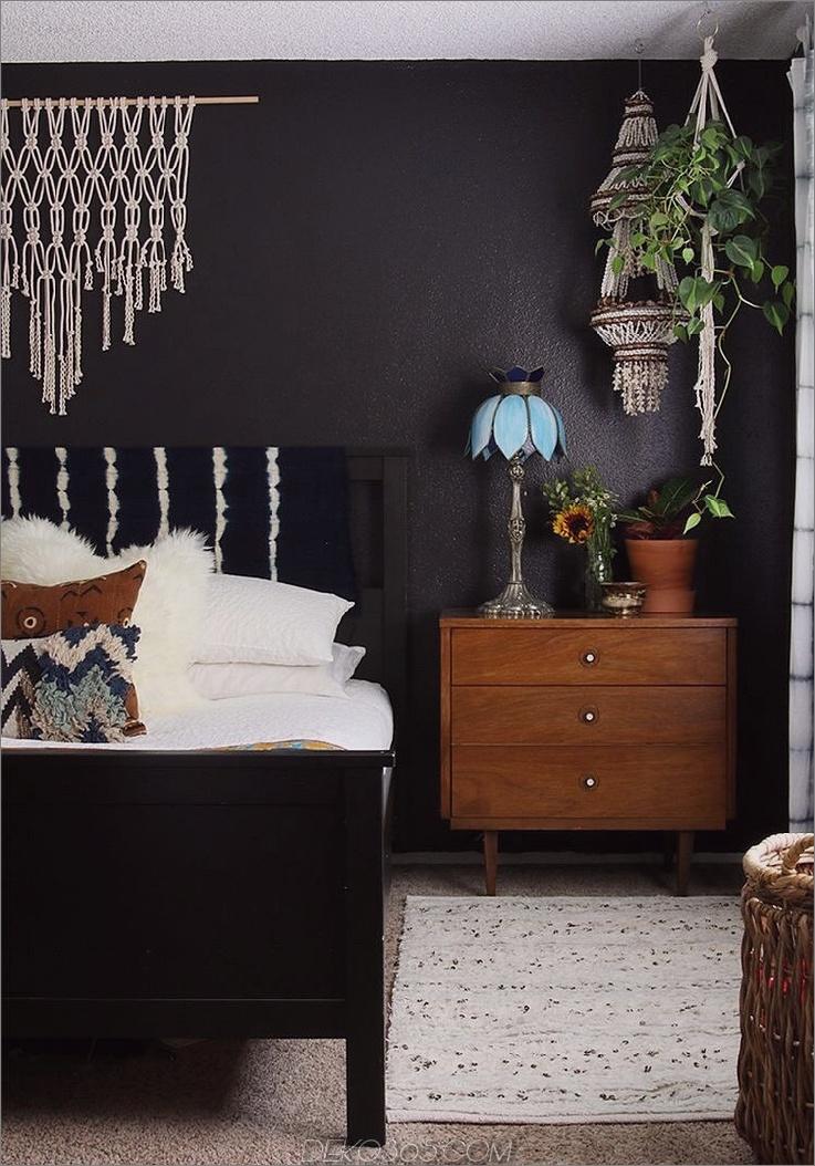 bohemian black bedroom Diese 15 schwarzen Schlafzimmer verleihen Ihrem Zuhause genau die richtige Menge an Mysterium