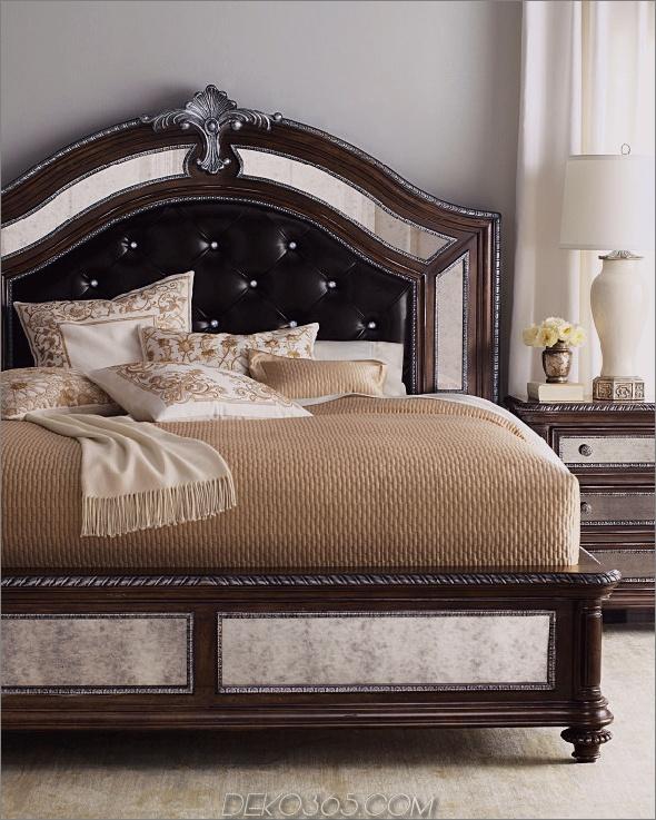 Modern-Bett-Kopfteile-mit-Modern-Couch-und-Braun-Decke auf Holz-Laminat-Boden-auch-Schubladen-600x750