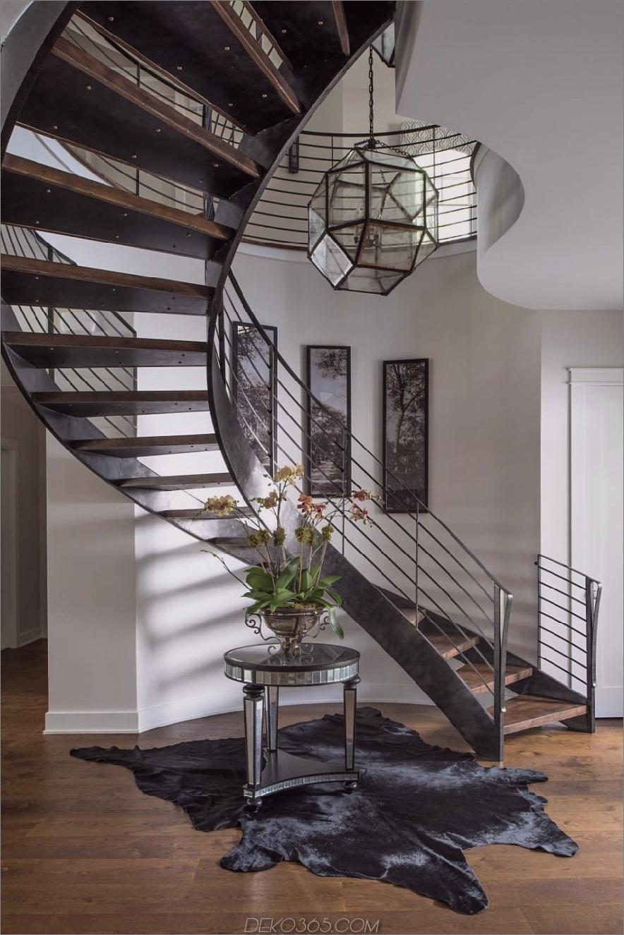 Zeitgenössisches Foyer von John McClain Design