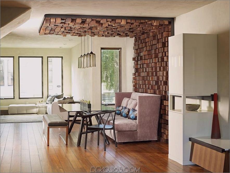 Weiches Sofa für einen modernen Essbereich