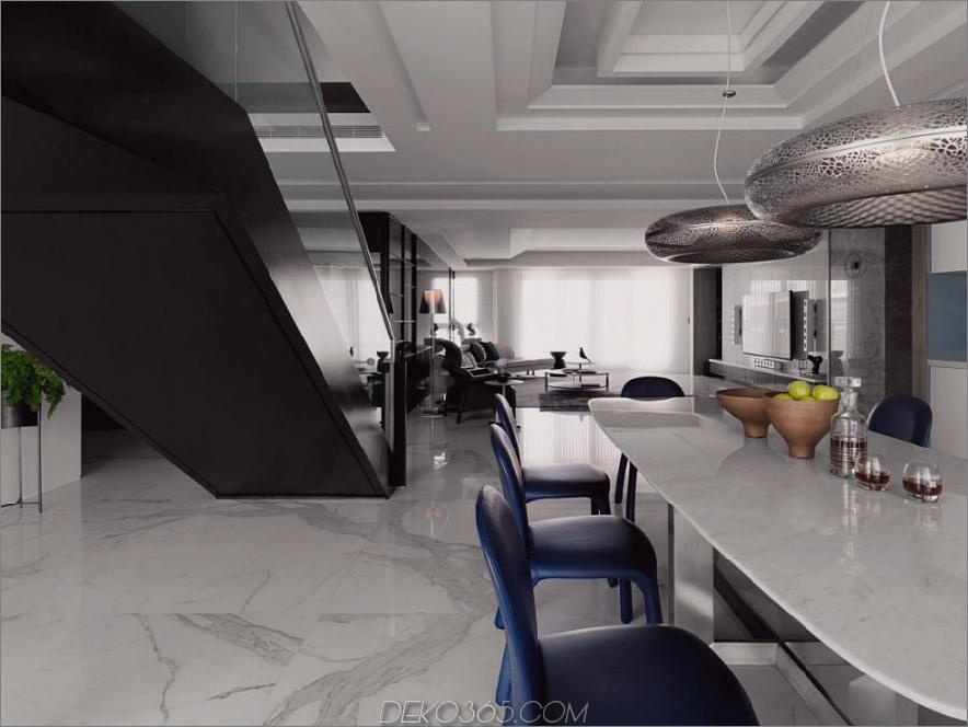 Blick in ein Wohnzimmer vom Essbereich