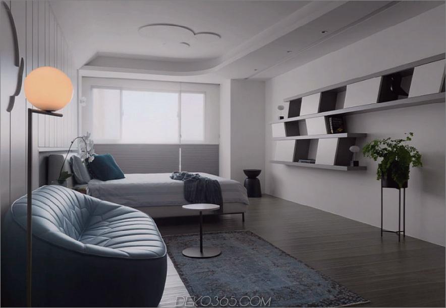 Ein weiteres Schlafzimmer ist zeitgemäß elegant